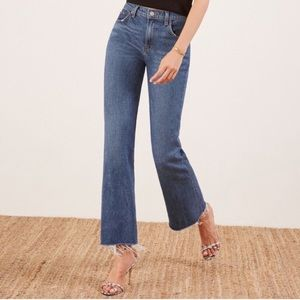 Reformation Cropped Flare Jeans